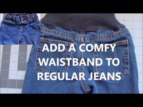 ADD COMFORT WAISTBAND TO JEANS   quick DIY