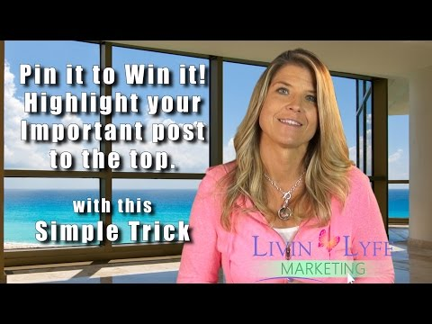 Pin it to Win It! Highlight important post to top of FB Business Page