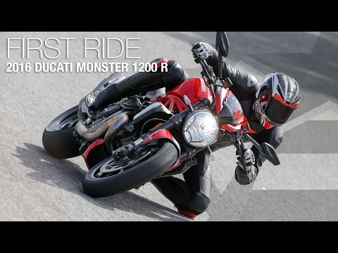 2016 Ducati Monster 1200 R First Ride Review - MotoUSA