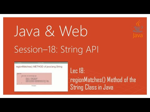 String API in Java | #18 | regionMatches() Method of the String Class in Java