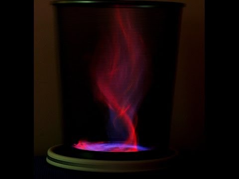 Fire Tornado with Red and Blue Flames