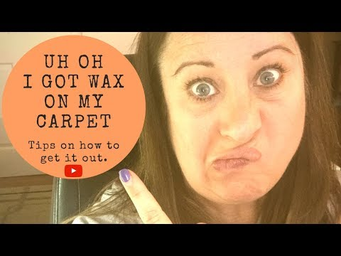 How to get wax out of your carpet!