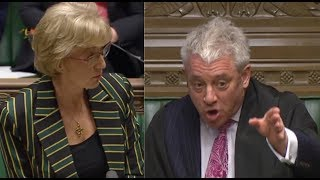 Speaker John Bercow FURIOUS in discussion with Andrea Leadsom: