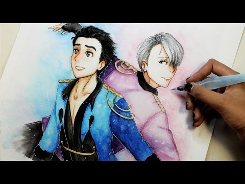 Speed Drawing: Yuri and Viktor (Yuri!! on Ice ユーリ!!! on ICE) | Diana Díaz