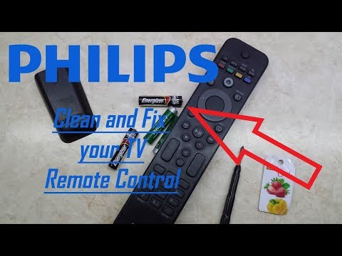 How to Clean and Fix Philips TV Remote Control