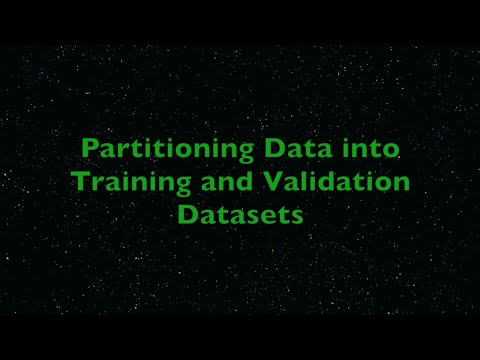 Partitioning data into training and validation datasets using R