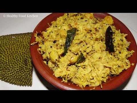 JackFruit Poriyal Recipe in Tamil -Poriyal Recipe - Palakai Poriyal Recipe
