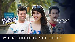 When Choocha Met Katty - Funny Scene | Varun Sharma, Sanjana Sanghi, Pulkit Samrat | Fukrey Returns