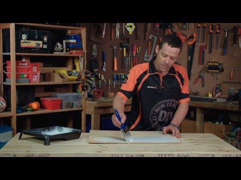 White Wash Plywood using Paint | Mitre 10 - The Lock In Tips