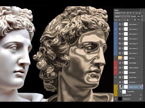 Metallic Gold Skin INSTANT Photoshop Effect