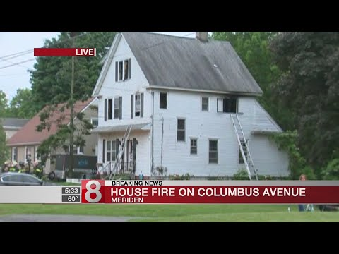 Crews respond to Meriden house fire
