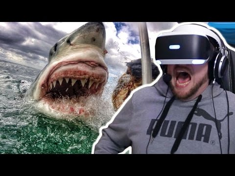We get Attacked by a Great White Shark!?!? (PLAYSTATION VR)