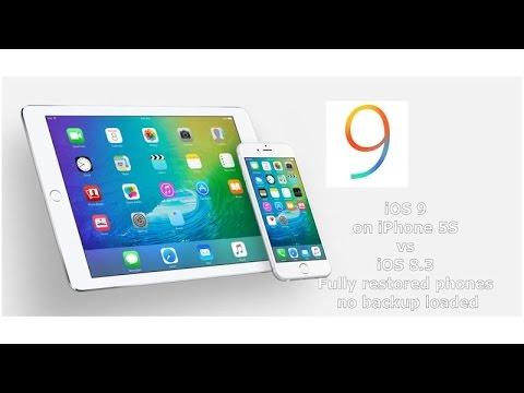 iOS 9 Beta vs 8.3 on iPhone 5S