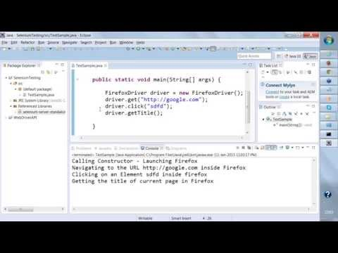 SELENIUM TRAINING Day -1 , Online Webdriver Demo (Batch 11th Jan 2015).mp4