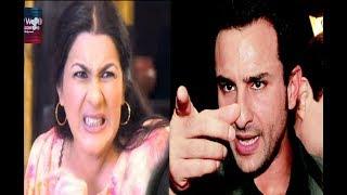 Saif got bashed by Amrita Singh on Sara