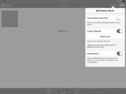 How to Create and Share an iCloud Photo Stream (on iPad)