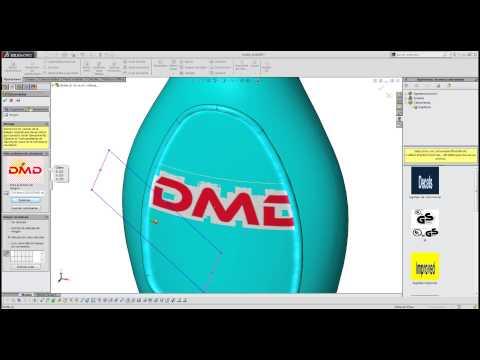 ¿Cómo insertar calcomanías a piezas en SolidWorks?