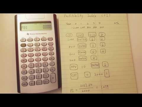 BA I I Plus Professional Calculate Profitability index (PI)
