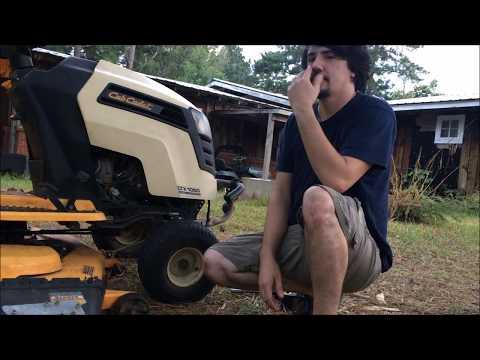 Lawn Mower Deck and Blade Removal Cub Cadet LTX 1050