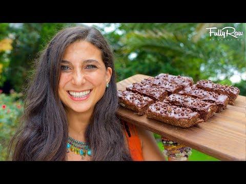 Chocolate Fudge Protein Bars | Raw Vegan  Recipe