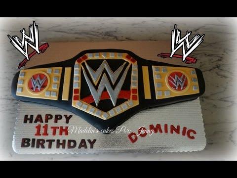 WWE Championship Belt Cake