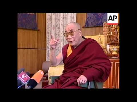 Dalai Lama repeats that will resign if violence gets 'out of control', protest