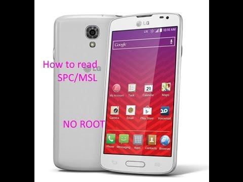 How to read MSL/SPC LG LS740 Volt no root