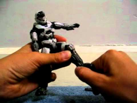 halo reach white mark V action figure review
