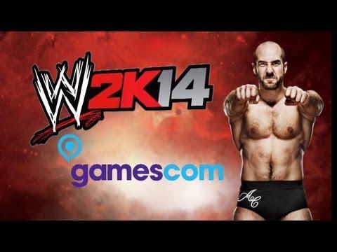WWE 2K14 - CESARO AT GAMESCOM!! INTERVIEW QUESTIONS NEEDED!