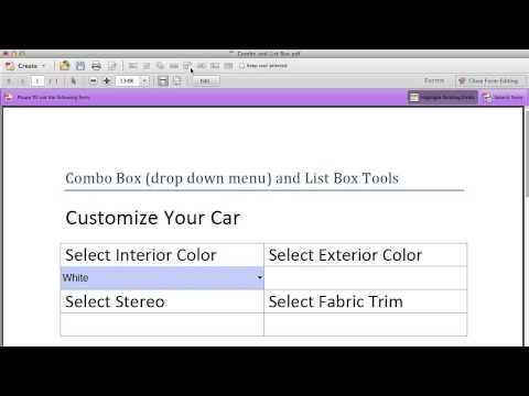 Creating Drop Down Menus With Adobe Acrobat