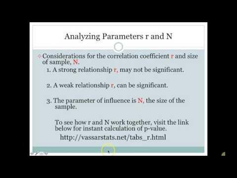 Correlation Coefficients and p-Values