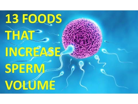 13 FOODS THAT INCREASE SPERM VOLUME |  how to increase sperm count naturally | Health Tips For All