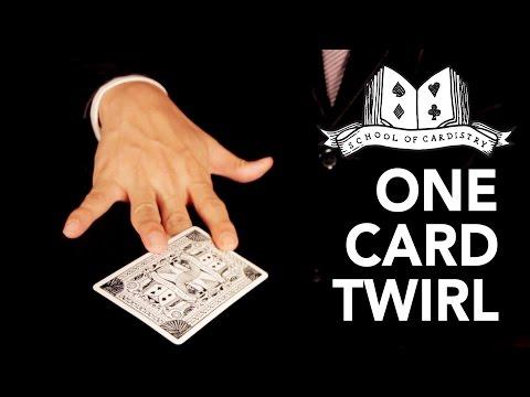 Cardistry for Beginners: Card Twirl - One Card Twirl Tutorial