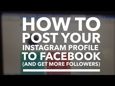 How to share your Instagram page to Facebook/get more Instagram followers
