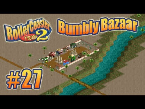 Let's Play RollerCoaster Tycoon 2 (Bumbly Bazaar) - Ep. 27: STATION REDESIGNS