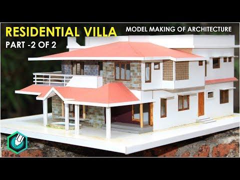 MODEL MAKING OF TRADITIONAL  villa (Kerala home design) part 2