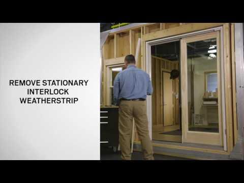 Interlock Weatherstrip Replacement on Andersen® Gliding Patio Doors ( Frenchwood® and  Narroline®)