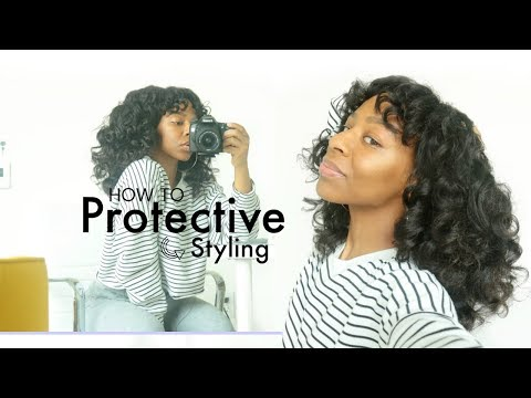 My FIRST NATURAL PROTECTIVE STYLE! + How I Maintain My Natural Hair | T'keyah B