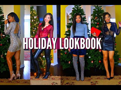 HOLIDAY PARTY, NEW YEARS EVE & WINTER LOOKBOOK -  OUTFIT IDEAS & HOW TO STYLE | VLOGMAS DAY 12
