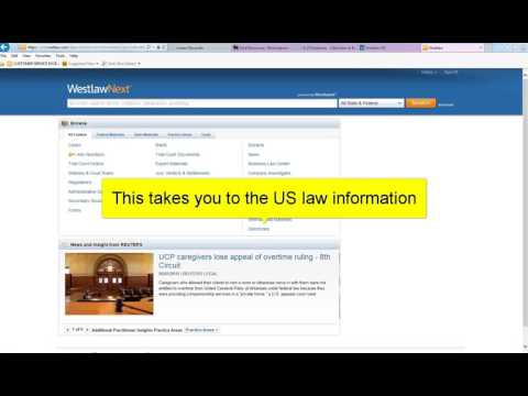 Finding US materials on Westlaw International