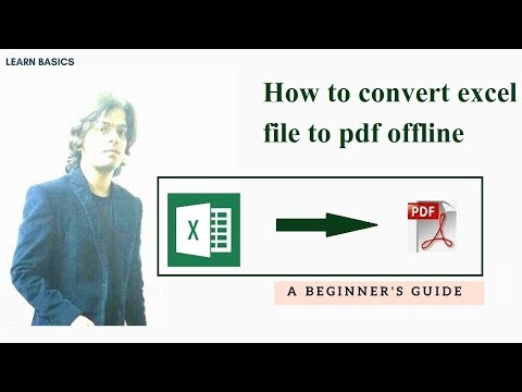 How to convert excel file to pdf offline | microsoft office online training