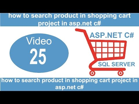 how to search product in shopping cart project in asp net c#