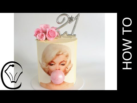 Marilyn Monroe Bubble Gum Birthday Cake by Cupcake Savvy's Kitchen