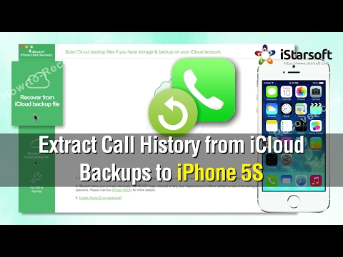 How to Extract Call History from iCloud Backups to iPhone 5S
