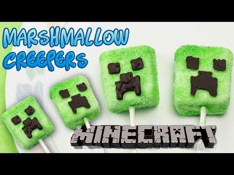Minecraft Creeper Marshmallow Lollipop/Pops Party Treats - Super Easy and Fun(No Bake)