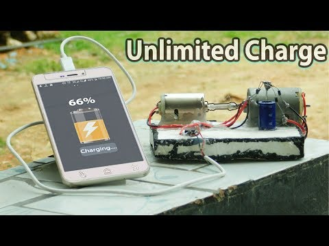 DIY free energy DC generator power Bank | it can charge your phone unlimited without electricity