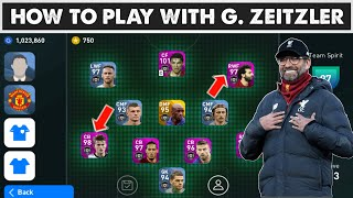 HOW TO PLAY WITH G.ZEITZLER (JURGEN KLOPP) IN EFOOTBALL PES 2020 MOBILE   MANAGER TACTICS EXPLAINED 