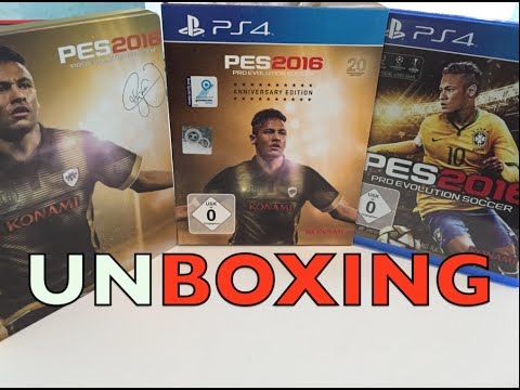 PES 2016 - ANNIVERSARY EDITION UNBOXING PS4 (Steelbook)