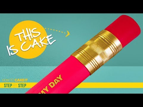 How To Make A GIANT PENCIL out of CAKE | Step By Step | How To Cake It | Yolanda Gampp