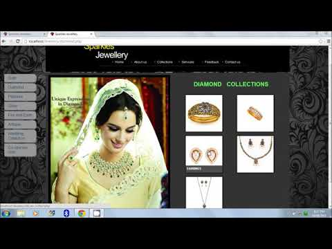 Online jewellery shopping website project using PHP (Part - 1)